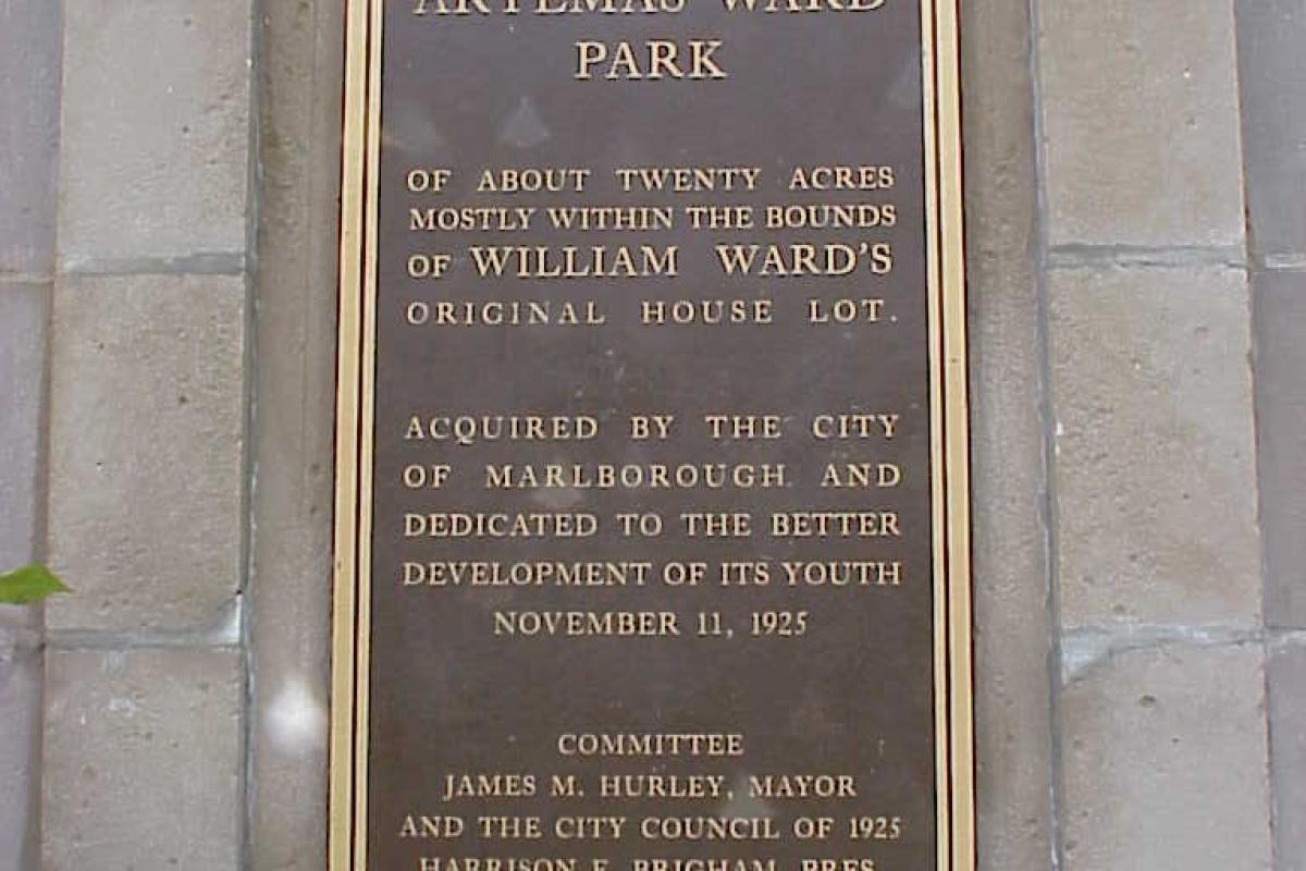 Ward Park Sign
