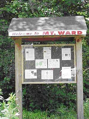 Mount Ward Informational Kiosk